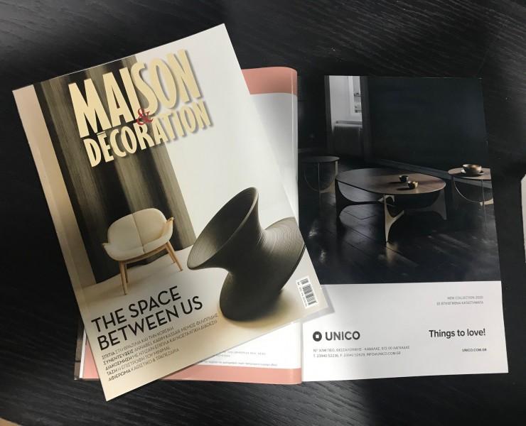 Η Unico στο περιοδικό MAISON & DECORATION!
